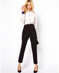 ASOS Collection | Black Asos High Waist Evening Trousers | Lyst
