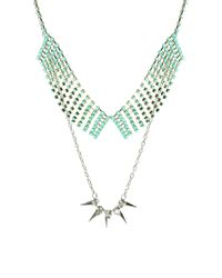 ASOS Collection | Green Limited Edition Stone Collar Spike Necklace Pack | Lyst