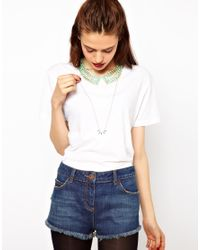 ASOS Collection - Green Limited Edition Stone Collar Spike Necklace Pack - Lyst