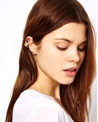 ASOS Collection - Metallic Asos Cross Earrings Love Bird Ear Cuffs - Lyst