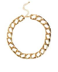 ASOS Collection | Metallic Asos Vintage Style Flat Link Necklace | Lyst
