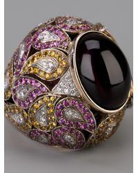 Athena - Pink Sapphire And Diamond Robeline Ball Ring - Lyst