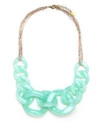 BaubleBar | Blue Seafoam Cable Necklace | Lyst
