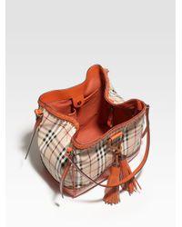 Burberry | Orange Small Tote Bag | Lyst