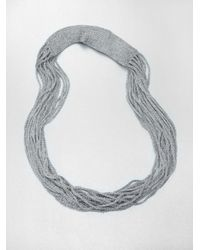 Eileen Fisher | Metallic Scarf Necklace | Lyst