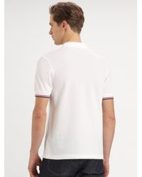 Fred Perry | White Piped Pocket Polo for Men | Lyst