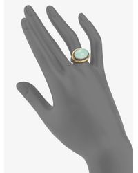 Gurhan - Metallic Aqua Chalcedony Sterling Silver and 24k Yellow Gold Ring - Lyst