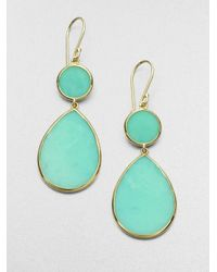 Ippolita | Green Mint Chrysoprase and 18k Yellow Gold Drop Earrings | Lyst