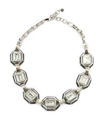 Judith Leiber | Multicolor Swarovski Crystal Enamel Collar Necklace | Lyst