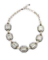 Judith Leiber | White Swarovski Crystal Enamel Collar Necklace | Lyst