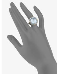Judith Ripka | Blue Quartz Motherofpearl Sterling Silver 18k Yellow Gold Ring | Lyst