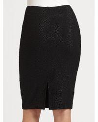 Kay Unger | Black Beaded Sequined Silk Skirt | Lyst