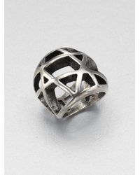 Low Luv by Erin Wasson - Metallic Domed Cage Ring - Lyst