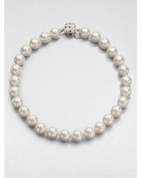 Majorica | 8mm-16mm White Round Pearl & Sterling Silver Strand Necklace/28 | Lyst