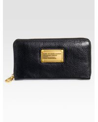 Marc By Marc Jacobs - Black Classic Q Zip-around Wallet - Lyst