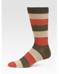 Marc By Marc Jacobs | Brown Striped Socks for Men | Lyst