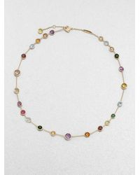 Marco Bicego | Metallic Jaipur Mini Semi-precious Multi-stone 18k Yellow Gold Station Necklace | Lyst