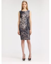 Max Mara - Gray Tevere Printed Dress - Lyst