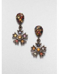 M.c.l  Matthew Campbell Laurenza | Multicolor Sapphire And Citrine Star Drop Earrings | Lyst
