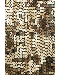 MICHAEL Michael Kors - Metallic Camouflage-pattern Sequined Top - Lyst