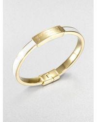 Michael Kors | Metallic Logo Plaque Bangle Bracelet | Lyst