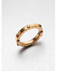 Michael Kors - Metallic Rivet Accented Ring-rose Gold-tone - Lyst