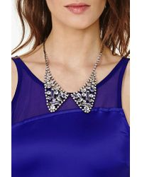 Nasty Gal - Metallic Crystal Collar Necklace - Lyst