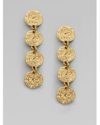 Oscar de la Renta - Metallic Russian Gold Drop Earrings - Lyst