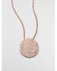 Phillips House | Metallic 14k Rose Gold & Diamond Infinity Pendant Necklace | Lyst