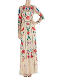 Temperley London - Natural Long Eliah Flower Show Dress - Lyst