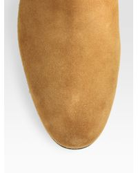 Tod's - Brown Suede Chelsea Boots for Men - Lyst