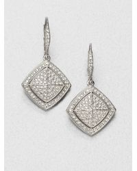 Adriana Orsini | Metallic Pavé Crystal Shield Drop Earrings | Lyst