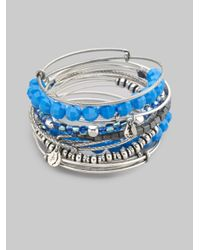 ALEX AND ANI - Neon Blue Bangle Bracelet Set - Lyst