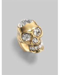 Alexander McQueen | Metallic Heart Skull Ring | Lyst