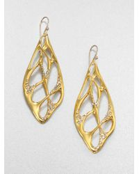 Alexis Bittar | Metallic Sparkle Web Drop Earrings | Lyst