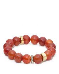 COACH | Red Rondelle Bead Bracelet | Lyst