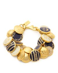 COACH - Metallic Button Bracelet - Lyst