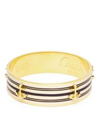 COACH - Metallic Three Quarter Inch Anchor Stripe Bangle - Lyst