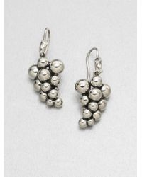 Georg Jensen - Metallic Sterling Silver Grape Earrings - Lyst