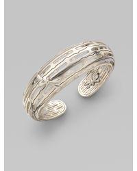 John Hardy - Metallic Sterling Silver Dragonfly Cuff Bracelet - Lyst