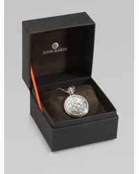 John Hardy - Metallic Sterling Silver Round Drop Pendant Necklace - Lyst