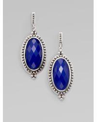 Jude Frances - Blue Sterling Silver Oval Earringslapis - Lyst