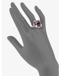 Judith Ripka - Metallic White Sapphire Crystal Cocktail Ring - Lyst