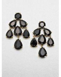 kate spade new york - Metallic Faceted Chandelier Earrings - Lyst