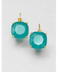 Kate Spade | Green Faceted Square Drop Earrings | Lyst