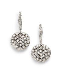 KC Designs - White Diamond Drop Disk Earrings - Lyst