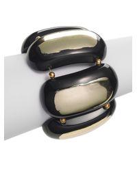 Kenneth Jay Lane | Metallic Beaded Stretch Bracelet | Lyst