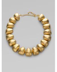 Kenneth Jay Lane - Metallic Pebble Necklace - Lyst