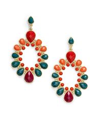 Kenneth Jay Lane - Multicolor Resin Teardrop Oval Earrings - Lyst