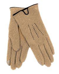Lauren by Ralph Lauren - Brown Solid Knit Touch Gloves - Lyst